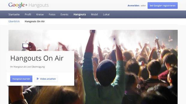 Hangouts on Air nur mit Rundfunklizenz, das Ausland lacht