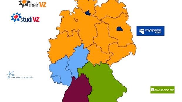 Social Networks: Die regionale Nutzung von StudiVZ, Xing, MySpace & Co. in Deutschland