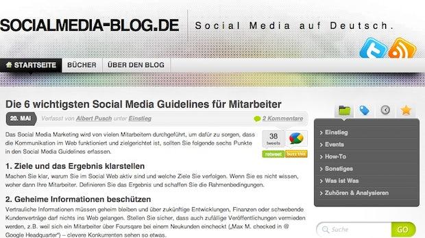 """Blog der Woche """"Socialmedia-Blog"""