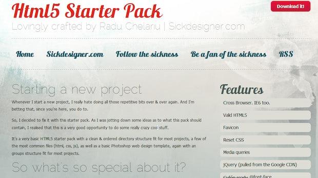Webentwicklung: HTML5 Starter Pack - Ausgangsbasis für Webprojekte