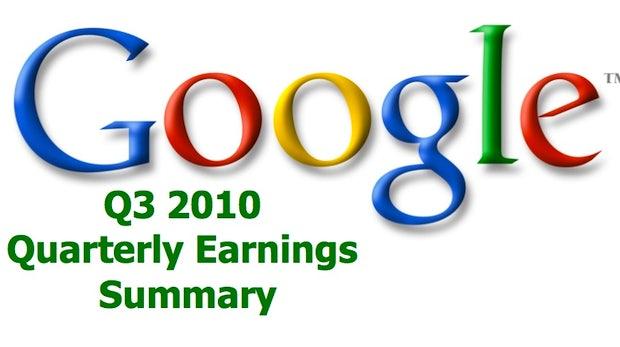 Rekordzahlen: Google mit sattem Gewinn im 3. Quartal 2010