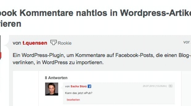 Howto: Facebook Kommentare nahtlos in Wordpress-Artikel integrieren