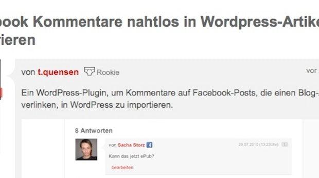 Howto: Facebook Kommentare nahtlos in Wordpress-Artikel integrieren