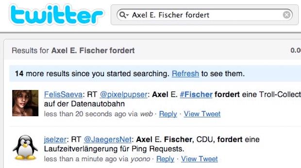 Twitter-Meme - Axel E. Fischer fordert...