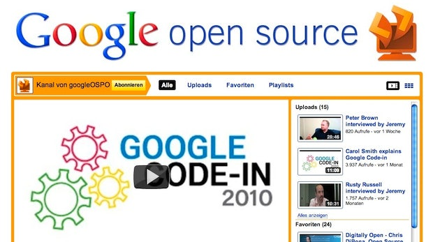 Google startet eigenen Open Source Channel auf YouTube