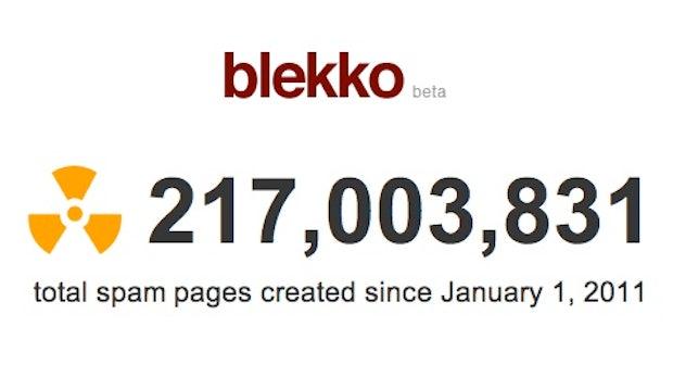 """Blekko startet """"Spam Clock"""" und enthüllt Spam-Probleme bei Google"""