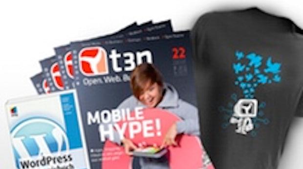 "Aktion: t3n-Abonnement inkl. ""WordPress – Das Praxisbuch"""
