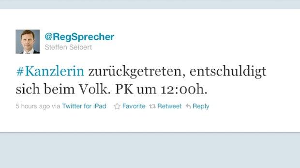 Twitter-Account @RegSprecher gehackt, gefälschter Tweet abgesetzt
