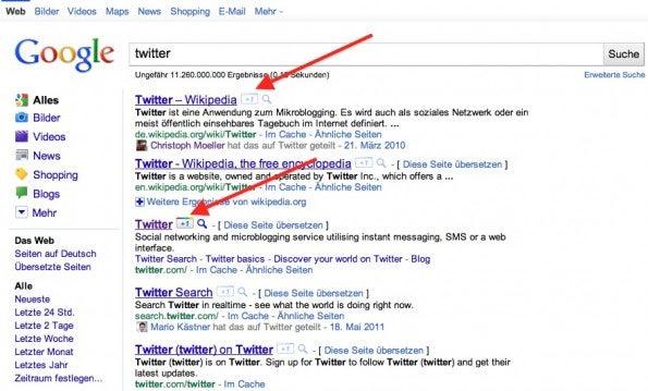 Google +1 Button in Suchergebnissen – nur der erste Schritt in Richtung Vernetzung