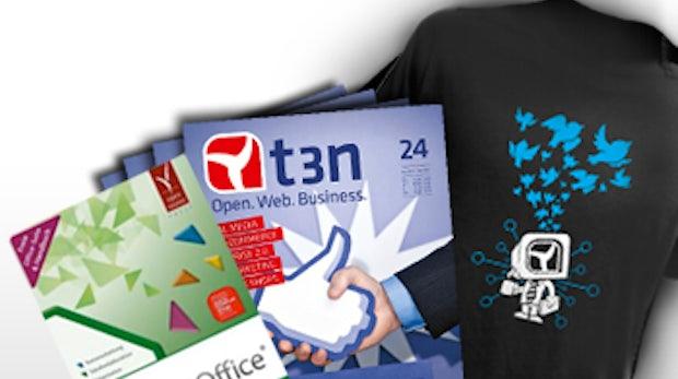 Aktion: t3n-Abonnement inkl. LibreOffice Handbuch & Softwarepaket