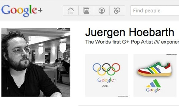 Google+ Pop Art