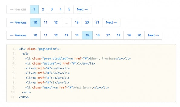 Bootstrap: Pagination