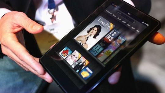 Amazon Kindle Fire: Vom Formfaktor her dem ersten Galaxy Tab ähnlich