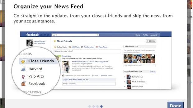 Facebook: Die Anzeige des Newsfeed lässt sich auf bestimmte Listen beschränken