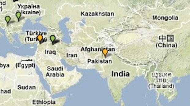 Google Maps jetzt auch mit Karten zu Afghanistan und der Antarktis
