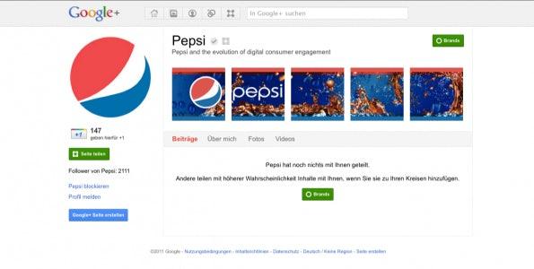 Google+ Page der Pepsi Co.