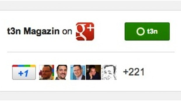 Google+ Badges: Fanboxen für deine Website