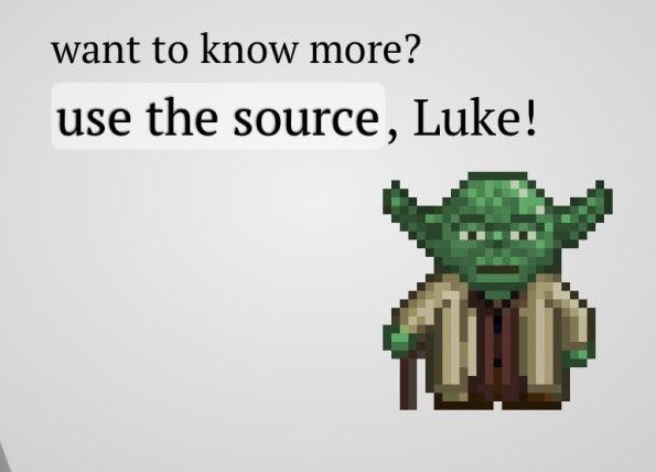 Impress.js Screenshot: use the source, Luke!