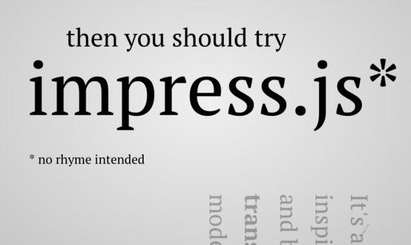 Impress.js Screenshot: you should try