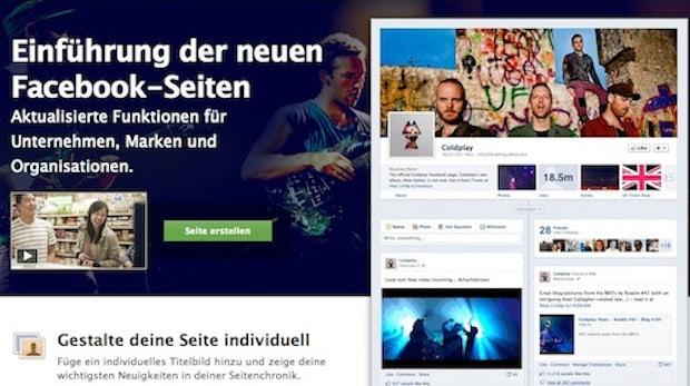 Facebook Chronik für Fanseiten ist da!