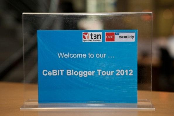 Der Start der CeBIT-Bloggertour 2012 im PresseCentrum...