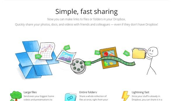 Dropbox vereinfacht das Teilen von Dateien