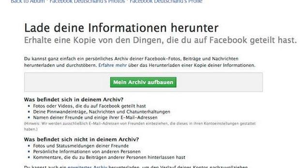 Facebook-Daten: Jetzt mehr Möglichkeiten zum Export