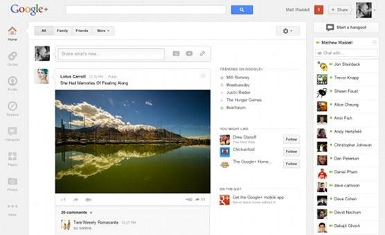 Die Navigationsleiste findet man nach dem Google+ Redesign nun auf der linken Seite.
