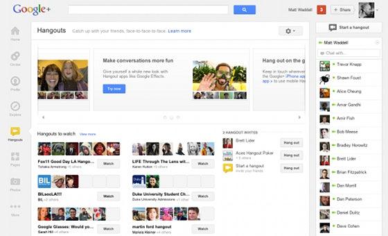 Die Hangouts haben nach dem Google+ Redesign eine eigene Seite, die unter anderem einen Überblick über unterschiedliche zur Verfügung stehende Hangouts gibt.