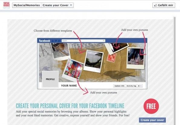 Mit MySocialMemories lassen sich einfach individuelle Titelbilder für die Facebook Chronik erstellen.