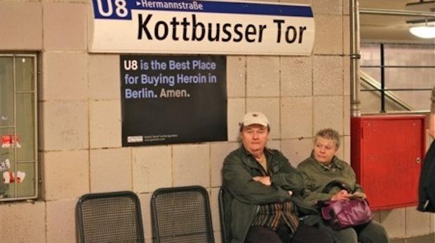 Guerilla-Marketing: Heroin kaufen und auf dem Fixie sterben - die besten Orte [Galerie]