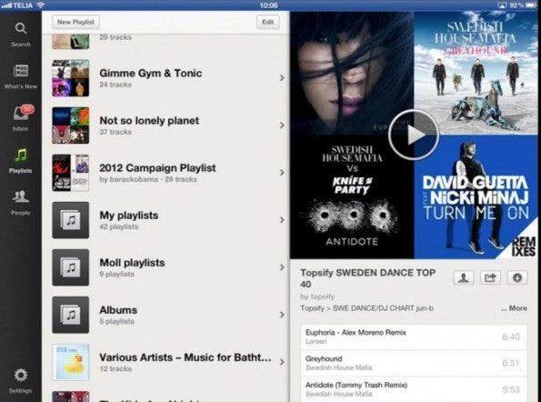 Spotify iPad-App: