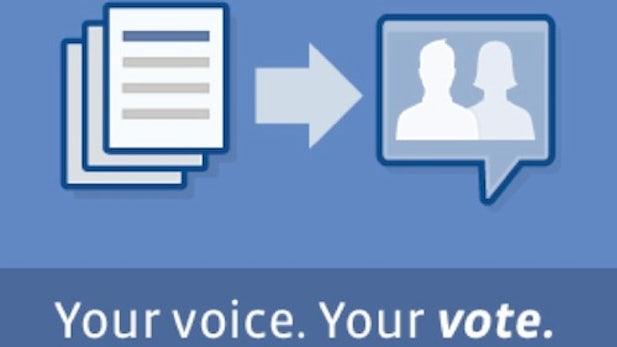 Facebook lässt wählen und keiner bekommt einen Wahlzettel