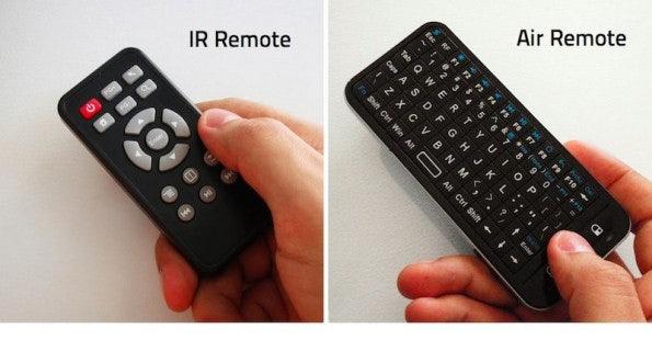 Das Android-Dongle für Smart TV kann man via Infrarot, Gesten oder Smartphone bedienen.