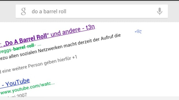 "Android 4.1: Google Now zeigt euch das Easteregg ""Do A Barrel Roll"""