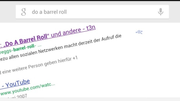 "Android 4.1: Google Now zeigt euch das Easteregg ""Do A Barrel Roll"""