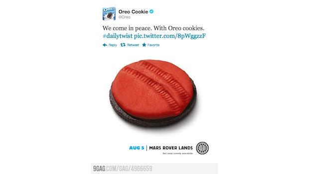 Auch Oreo macht Werbung mit der Marslandung