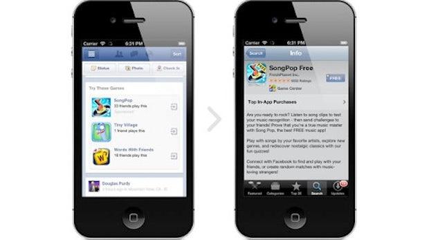 Facebook: Werbung für Apps im mobilen Stream