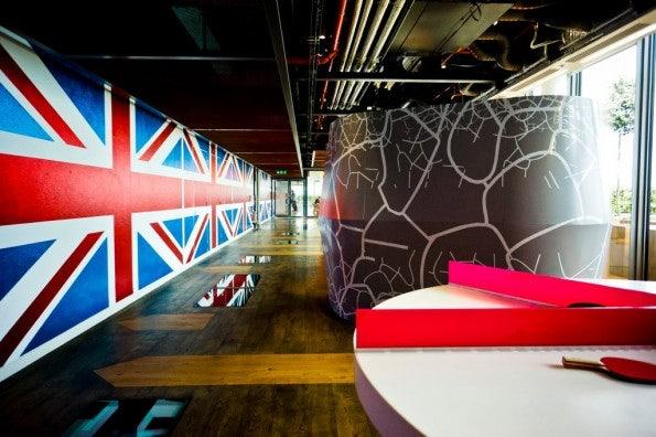 Die Büroräume von Google sind dem Look des Standorts angepasst (Quelle: Flickr)