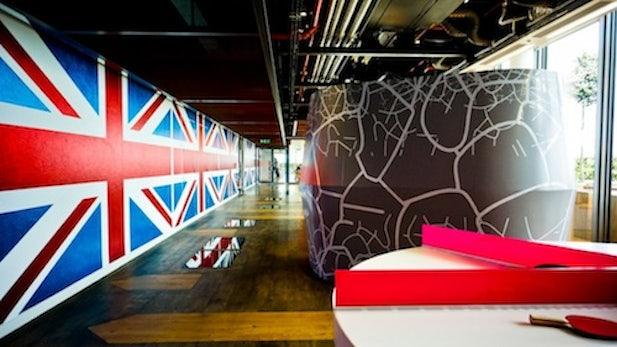 Google-Büros London: Bunte Nostalgie in der Olympiastadt