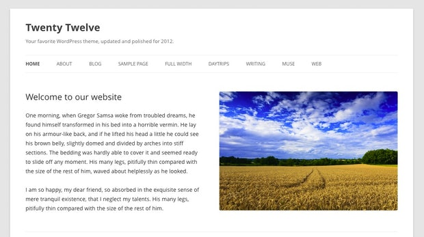 Twenty Twelve: Wordpress präsentiert neues Standard-Theme