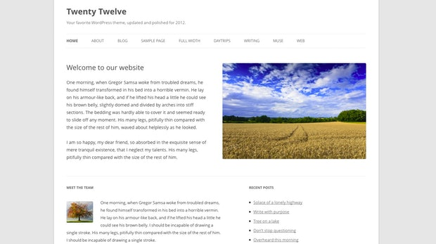 """WordPress 3.5: Das neue Standard-Theme TwentyTwelve wurde """"Mobile First"""" entwickelt."""