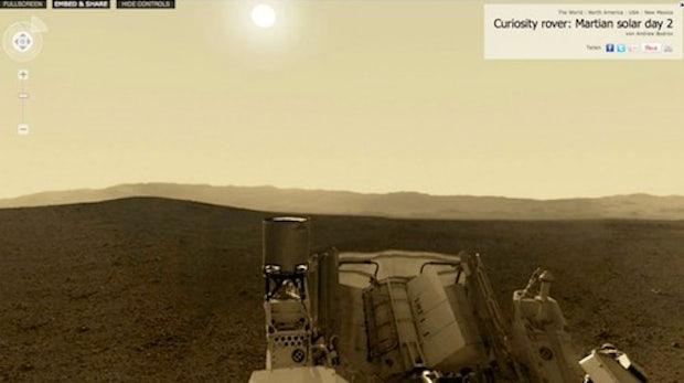 Curiosity: interaktives 360 Grad-Panorama vom Mars