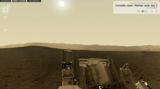 Curiosity: interaktives 360 Grad-Panorama vom Mars