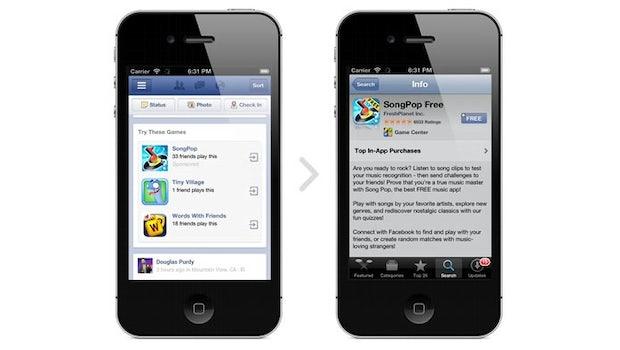 Facebook wird bald auch mobil Werbung einblenden – vorerst nur für Apps (Bild: Facebook)