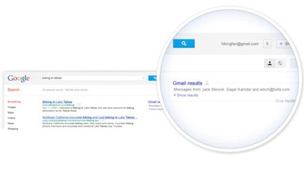 Google testet Anzeige von Mails, Kalender und mehr in der Suche