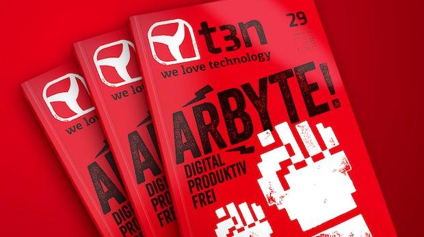 """t3n Magazin 29 fertig – Titelthema: """"Arbyte!"""" – frisches Magazinlayout und neuer Claim"""