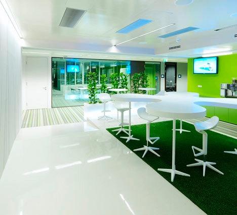Das Office von Microsoft in Wien, Österreich.