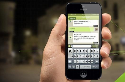 Ortsbasierter Messenger-Dienst: f1eld findet Chatpartner in der Umgebung