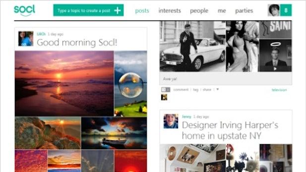 Socl: Microsoft startet offene Beta mit Redesign im Pinterest-Look
